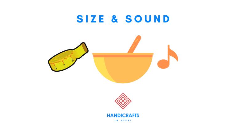 size sound singing bowl