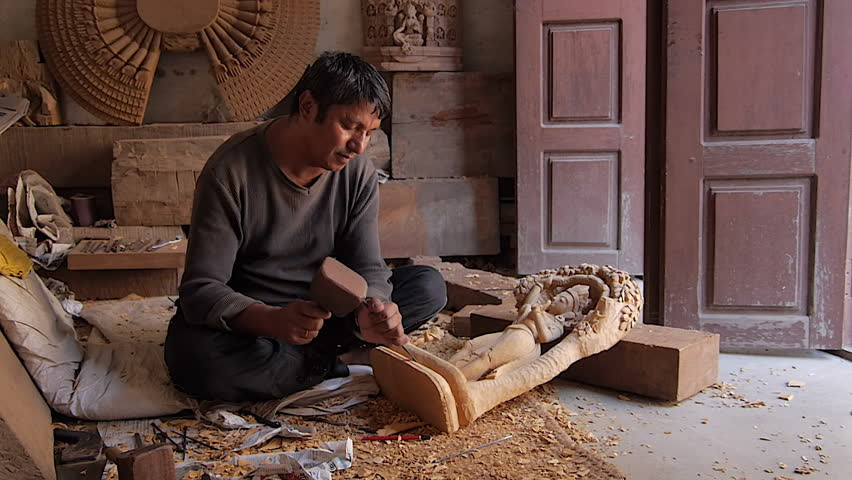 wood carving nepal