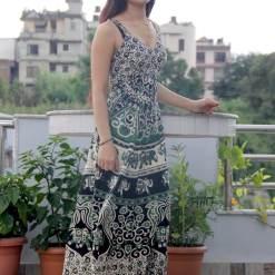 mithila cotton women sleeveless dress