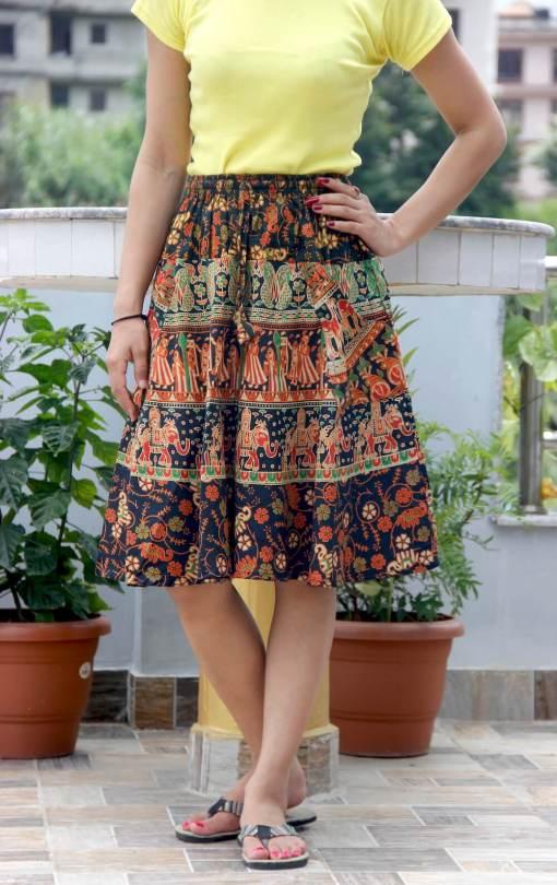 Janaki Cotton Mini Skirt