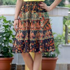 Janaki Cotton Mini Skirt