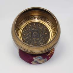 Hand Carved Medicine Buddha Singing Bowl