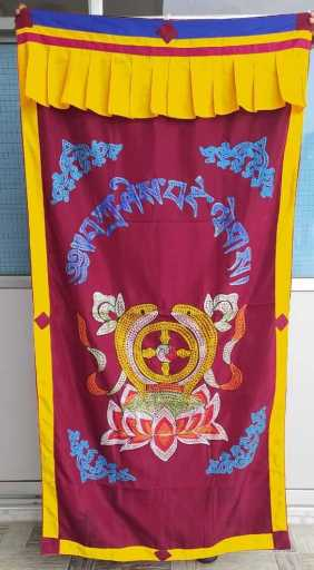 tibetan door curtain buddhist ritual items