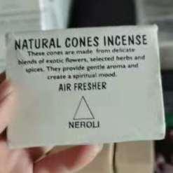 natural cones incense neroli