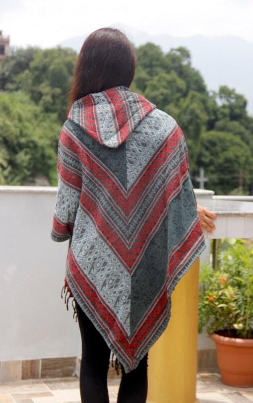 Classical Woolen Poncho