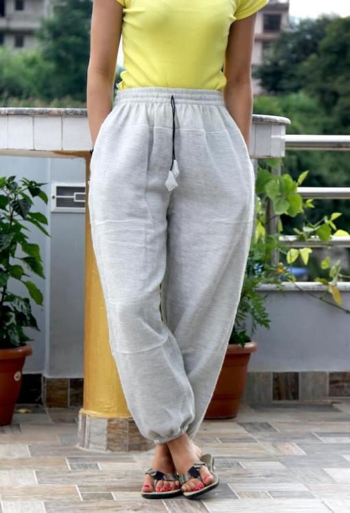 Off White Warm Woolen Trouser