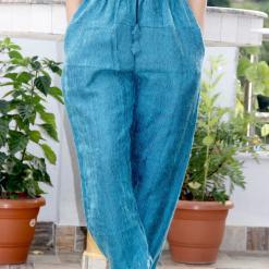 Turquoise Warm Woolen Trouser
