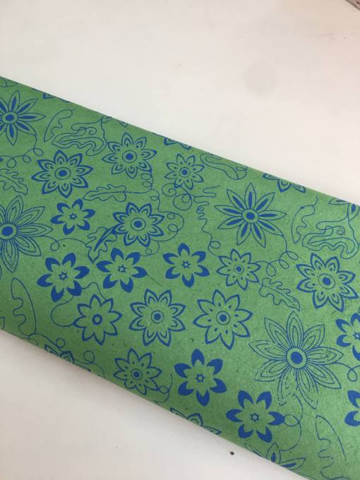 Dark Green Flower Gift Wrapping Paper