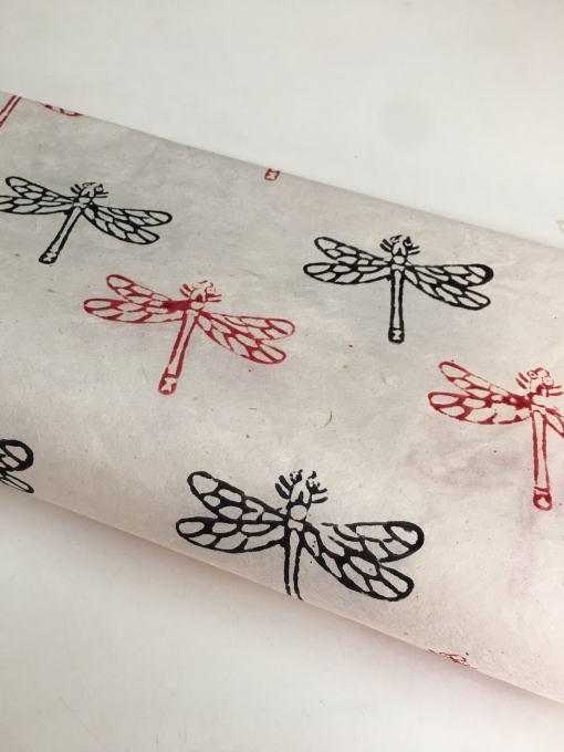 Off White Butterfly Lokta Paper Sheet