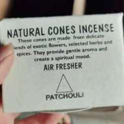 natural cones incense patchouli