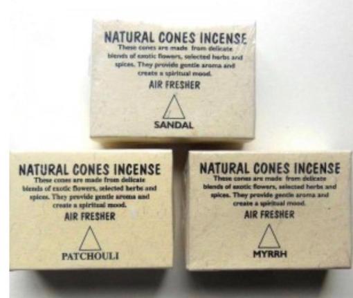 natural cones incense sandal