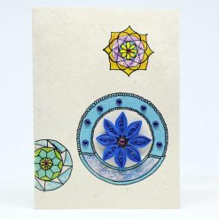Mandala Quilling Lokta Greeting Card Blue Color