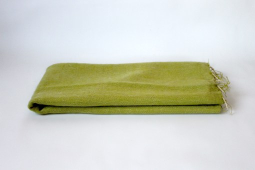 Yak Wool Shawl Lime Green Color