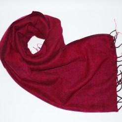 Yak Wool Shawl Burgundy Color