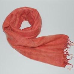 Yak Wool Shawl Copper Orange Color