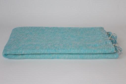 Yak Wool Shawl Light Blue Color