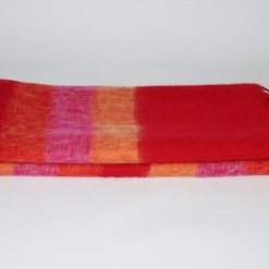 Yak Wool Shawl Stripe Red Orange Color