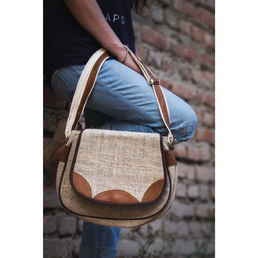 Hemp Leather Side Bag