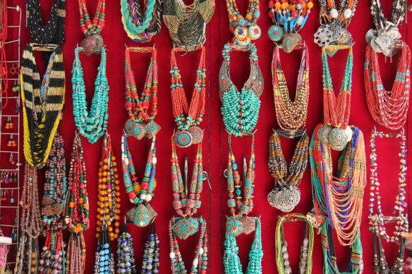 stone and beads jewelry