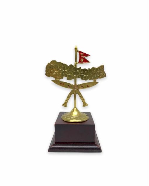 Khukuri Cross and Nepal Map Gift Stand