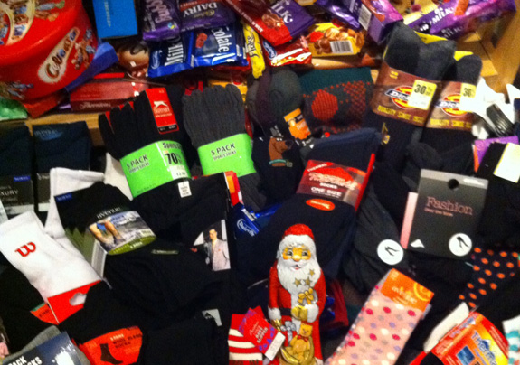 Socks and Chocs for the Homeless 2010