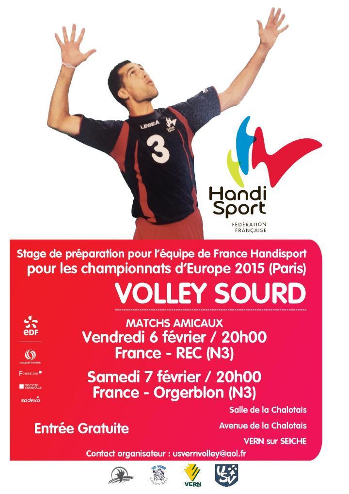 Affiche Volley Sourd France Vern