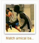 voir les photos du match amical basket