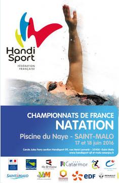 Affiche du championat natation N1 N2 St Malo 2016