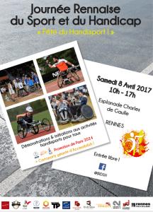 affiche de la journee rennaise du sport et du handicap