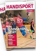 Couverture du Mag: un handballeur en train de tirer