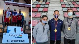Côte à côte deux photos des particpants aux championnats de France