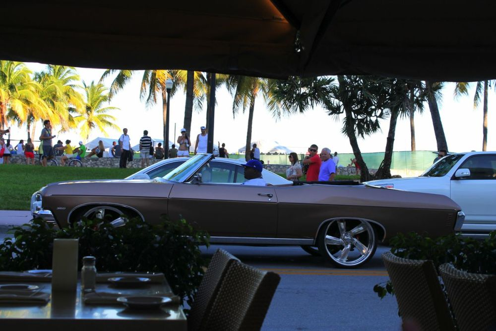 People watching in Miami. Muscle, Beach and Cars. (3)