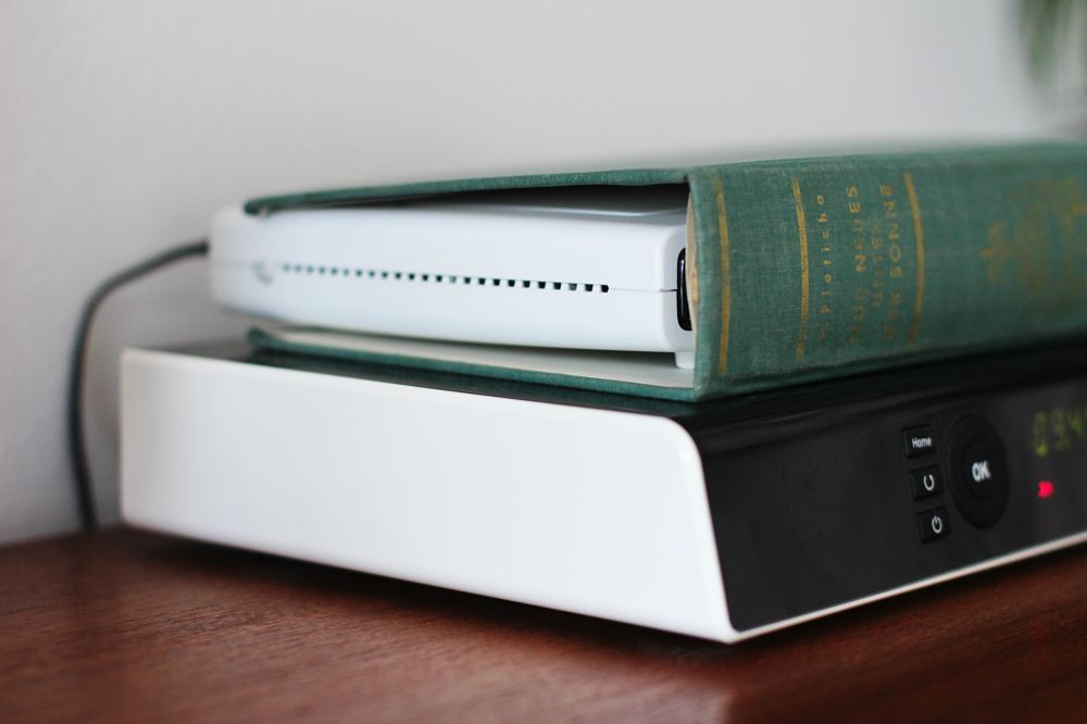 router-under-cover- of old book