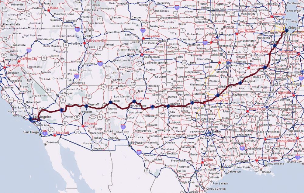 Road Trip USA! The legendary Route 66 and Road Kill Cafe! (1)