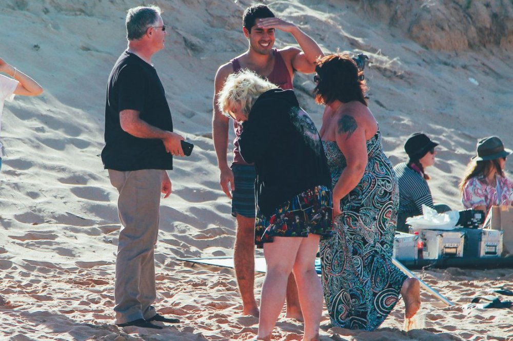 Home and Away Cast and crew on the beach in Palm Beach, Sydney, Australia (3)