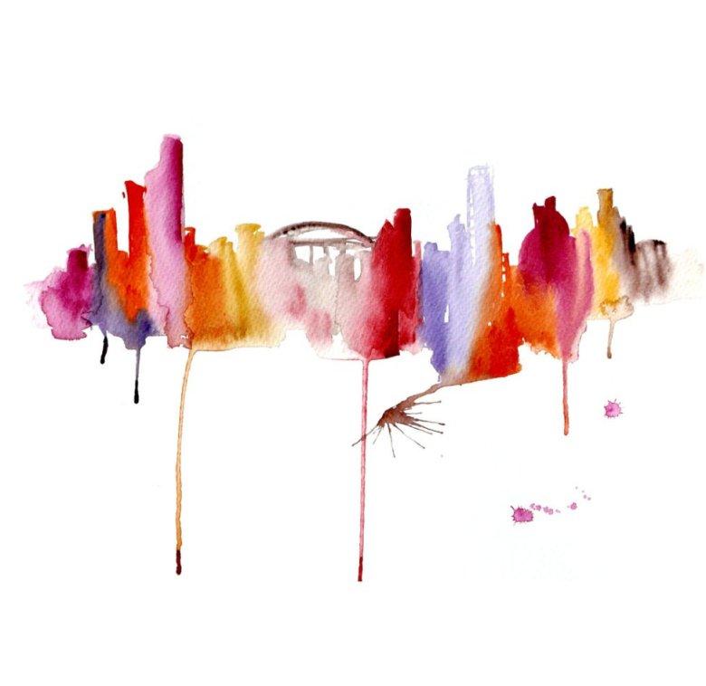 Watercolour Cities by Elena Romanova Artist (23)