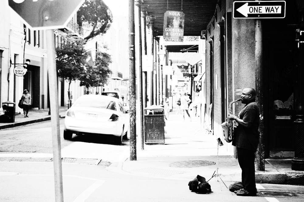 Black and White Photos of People & Places in New Orleans, Louisiana, United States Of America, USA (8)