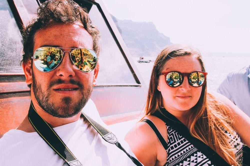 Conquering Volcanos in Santorini, Caldera, Sailing, Boat Trip, Greece (10)