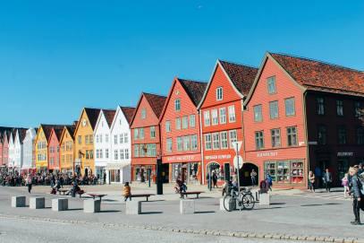 The UNESCO World Heritage Site of Bryggen... In Bergen, Norway. (19)