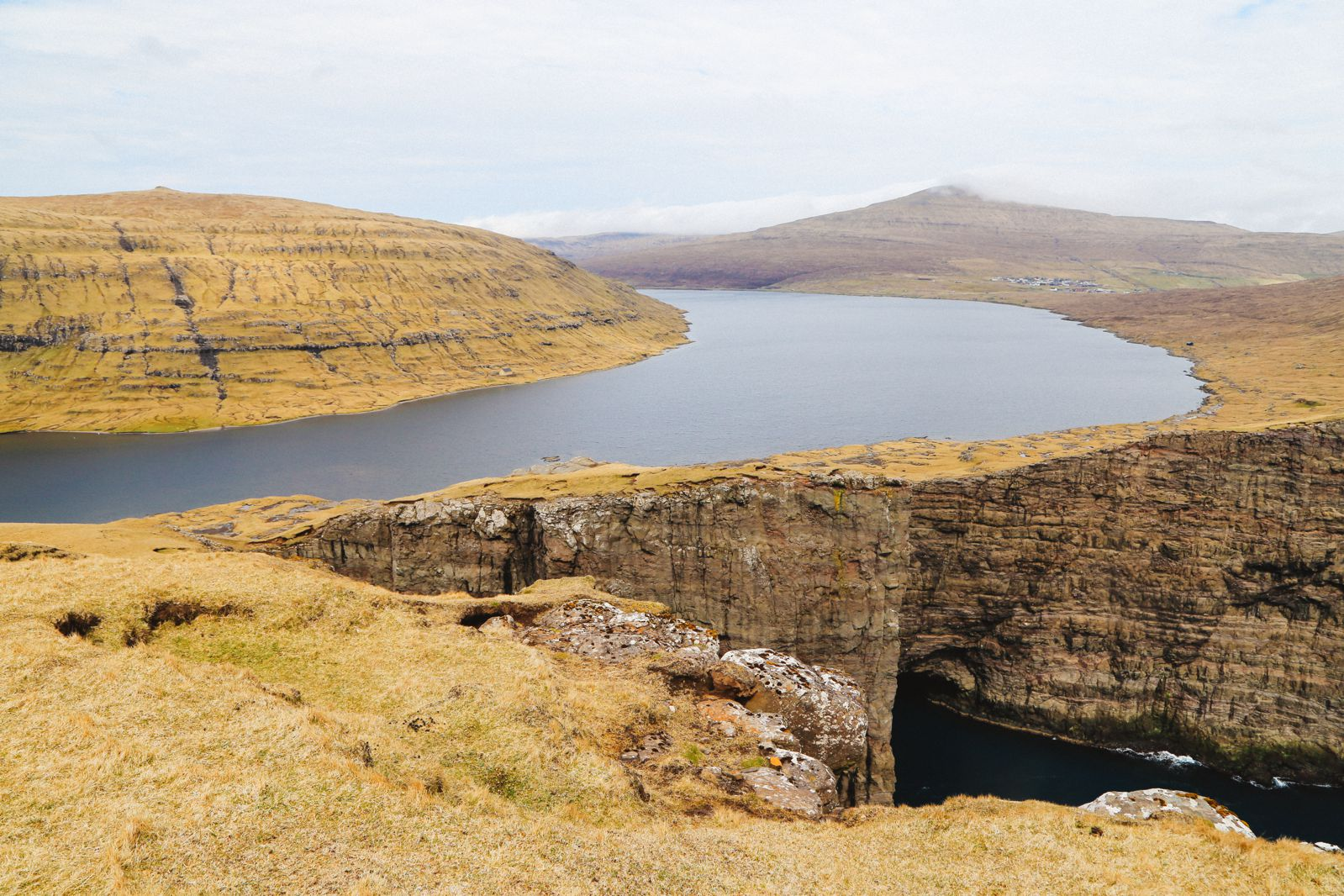 HAVE YOU EVER SEEN THE CLIFF TOP LAKE OF SØRVÁGSVATN, FAROE ISLANDS?