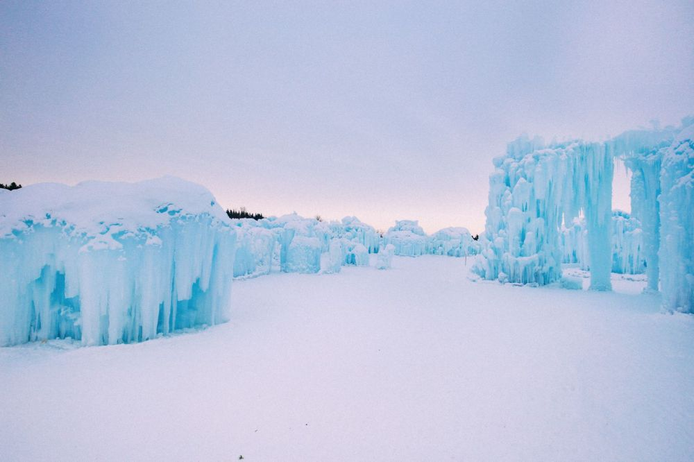 Fat Biking Across The Frozen River Valley To The Ice Castles Of Edmonton, Canada (30)