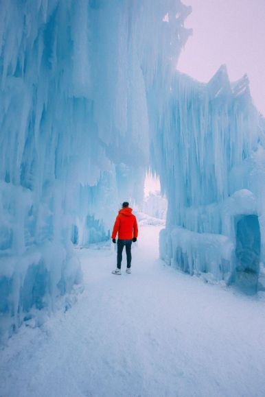Fat Biking Across The Frozen River Valley To The Ice Castles Of Edmonton, Canada (32)
