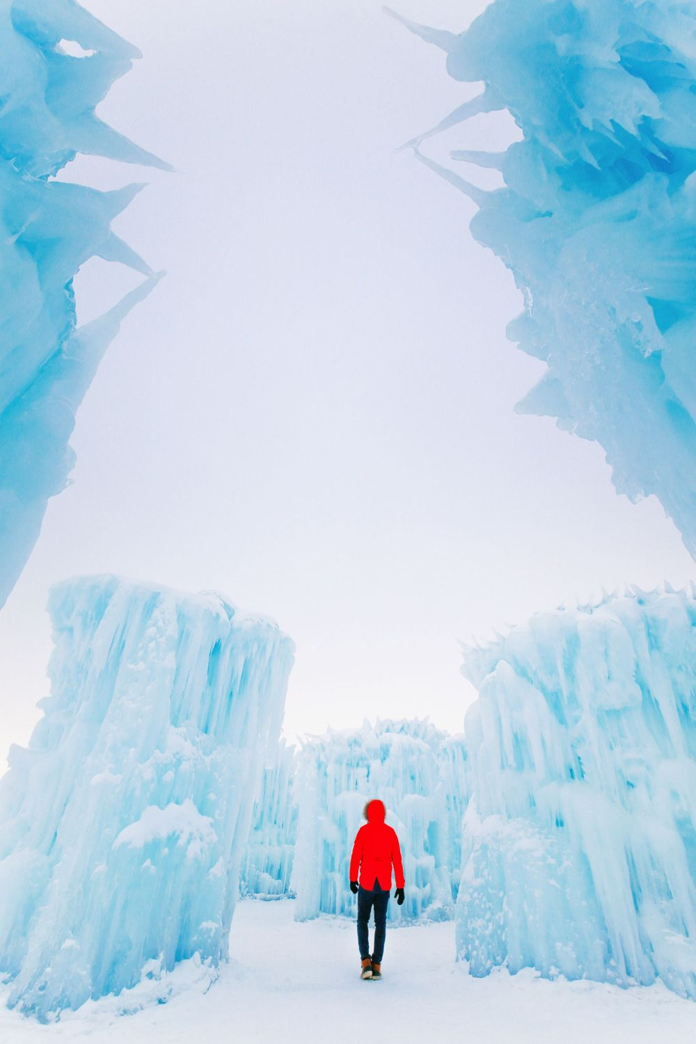 Fat Biking Across The Frozen River Valley To The Ice Castles Of Edmonton, Canada (38)