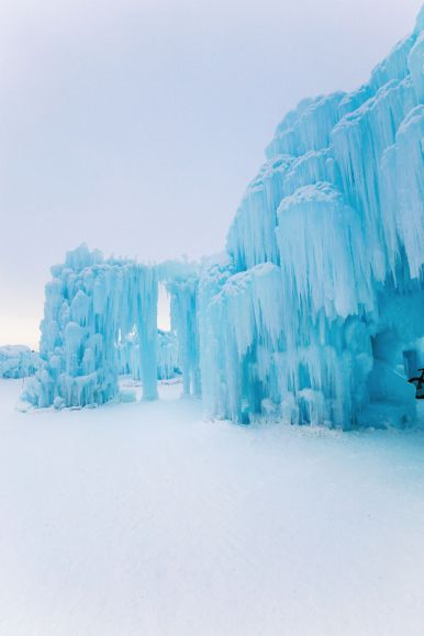 Fat Biking Across The Frozen River Valley To The Ice Castles Of Edmonton, Canada (45)