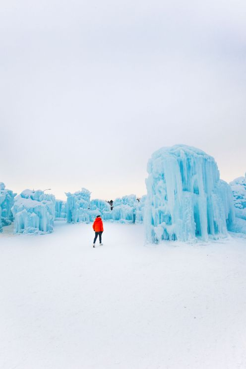 Fat Biking Across The Frozen River Valley To The Ice Castles Of Edmonton, Canada (47)