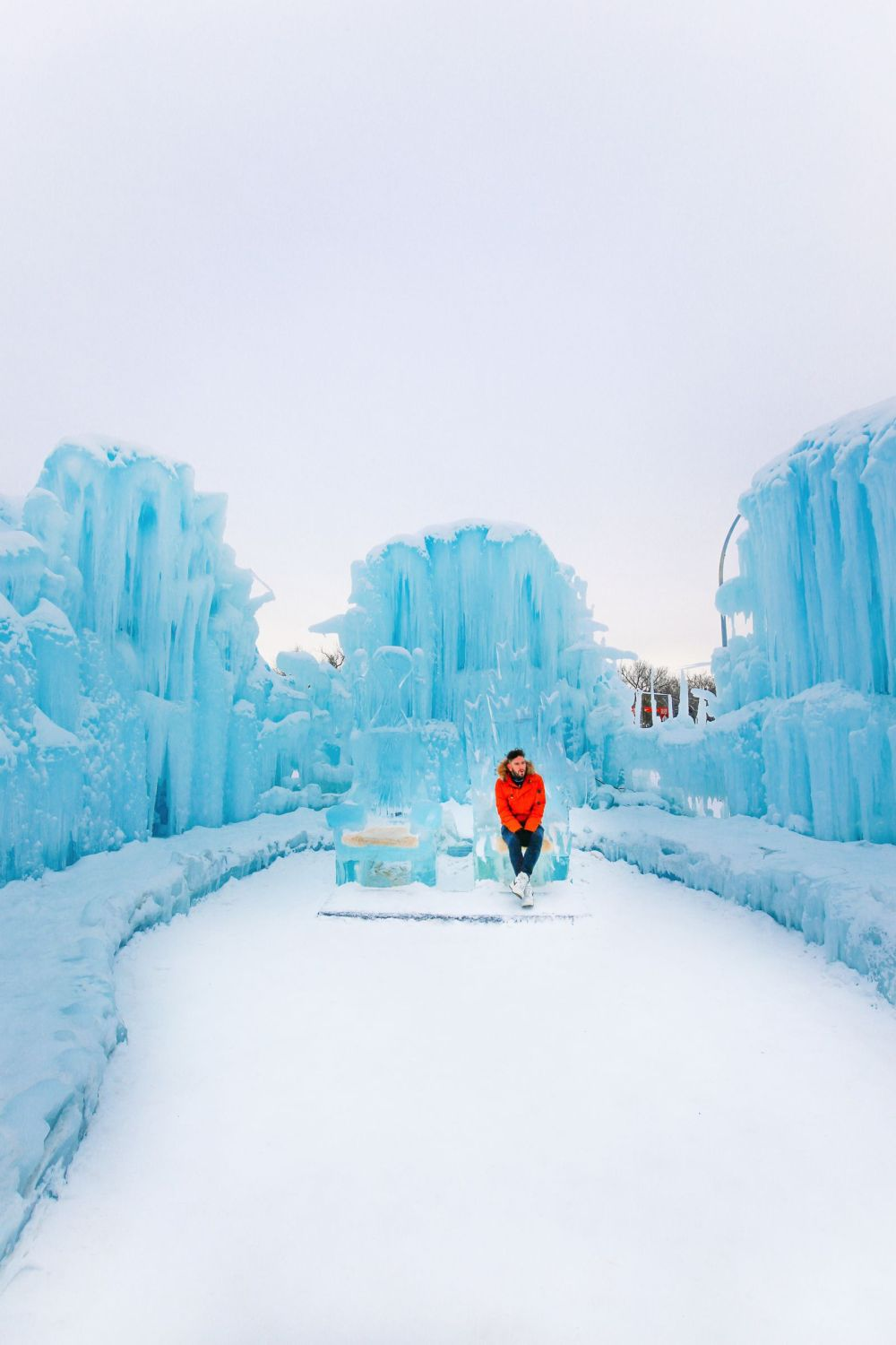 Fat Biking Across The Frozen River Valley To The Ice Castles Of Edmonton, Canada (51)