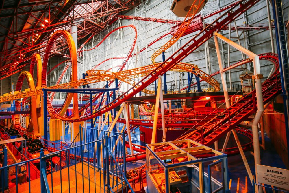 The World's Tallest Indoor Roller Coaster... In Edmonton, Canada (34)