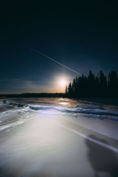 Midnight Moonlight Snowshoeing... In Edmonton, Canada (45)