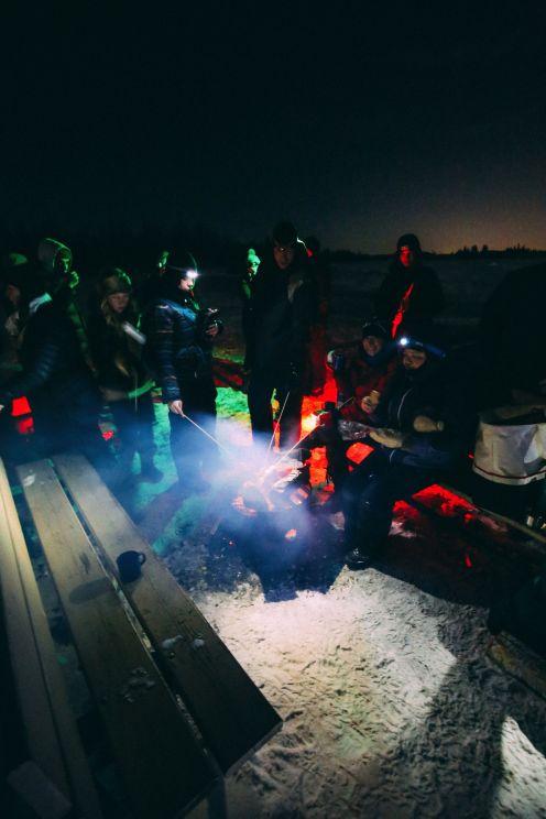 Midnight Moonlight Snowshoeing... In Edmonton, Canada (52)
