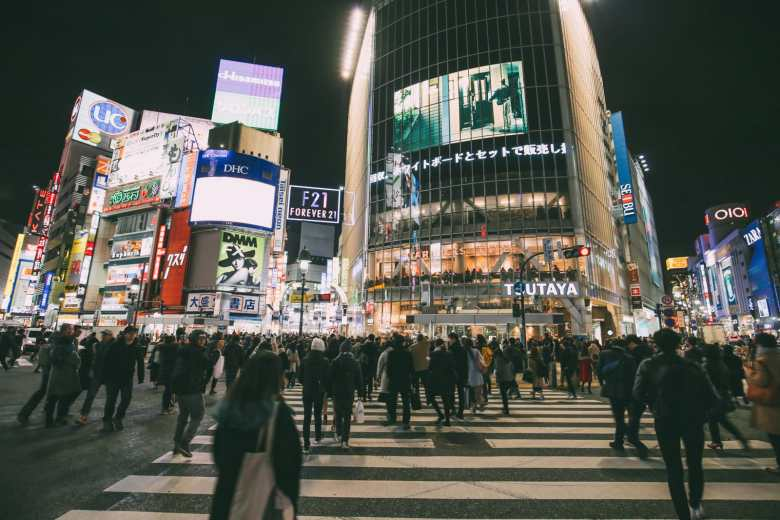 The Famous Shibuya Crossing And Dancing Robots... In Tokyo, Japan (12)